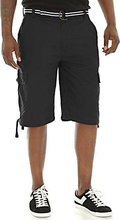 Akademiks Mens Big and Tall Belted Cameron Twill Cargo Short Cargo Shorts