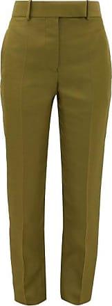 Haider Ackermann Tailored Slim-leg Canvas Trousers - Womens - Khaki