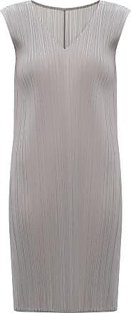 Issey Miyake Pleated Dress Womens Grey