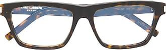 Saint Laurent Eyewear Armação de óculos quadrada tartaruga - Marrom