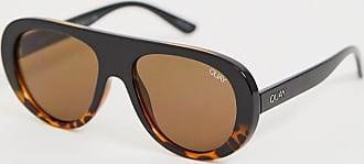 Quay Quay - Bold Move - Sonnenbrille mit breitem Gestell-Braun