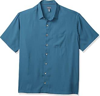 Van Heusen Mens Big and Tall Air Short Sleeve Button Down Grid Shirt, Blue Sapphire, XXX-Large