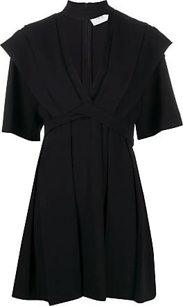 Iro pleated empire line mini dress - Black