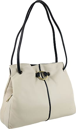 Ladies Soft Leather Shoulder Handbag by GiGi; Othello Collection Classic Womens