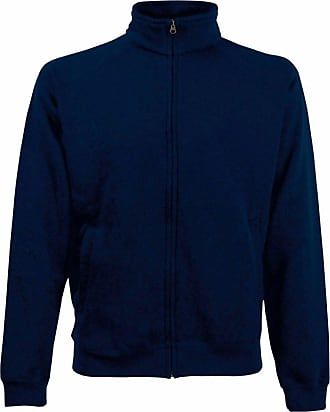 Fruit Of The Loom Mens Premium Sweat Jacket Deep Navy