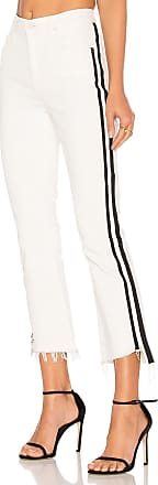 Mother Insider Crop Step Fray in White