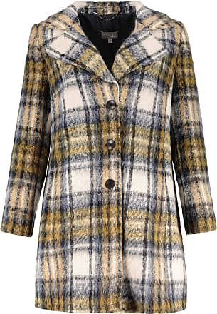Ulla Popken Womens Plus Size Classic Plaid Coat Multi 24 718928 90-50