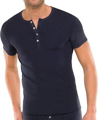 ef97edefc07f8 Schiesser Herren T-Shirt mit Knopfleiste Naturbursche 2er Pack, Farbe:Blau  (800