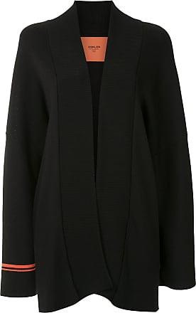Osklen striped cuff cardi-coat - Black
