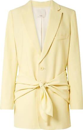 Tibi Oversized Twill Blazer - Pastel yellow