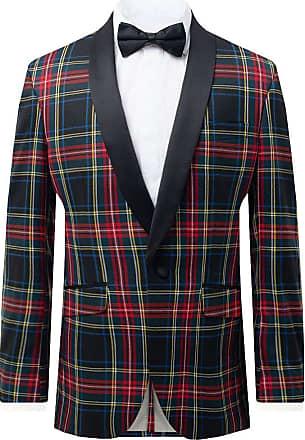 Dobell Mens Green Tartan Tuxedo Jacket Regular Fit Contrast Shawl Lapel-42R