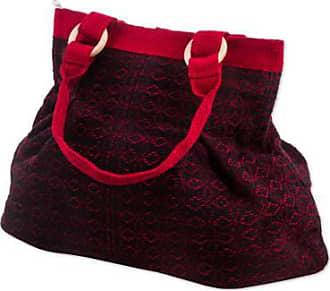 Novica Wool shoulder bag, Cherry Coal