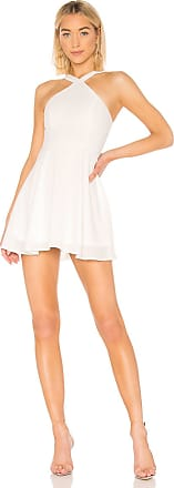 Superdown Silvia Skater Dress in White