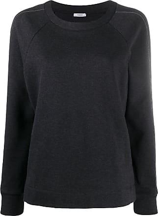 PESERICO metal embellished crew neck sweatshirt - Preto