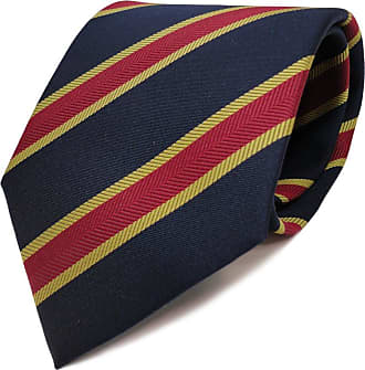 TigerTie tie necktie blue royal dark blue red gold striped