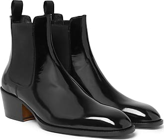 Tom Ford Webster Patent-leather Chelsea Boots - Black