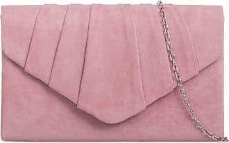 LeahWard Womens Suede Clutch Handbags Purse Wedding Bags 308 (Blush)