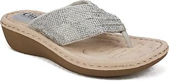 White Mountain Womens Calvert Sandal, Light Grey, 5.5 UK