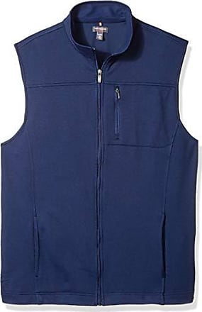Van Heusen Mens Size Big and Tall Traveler Solid Full Zip Vest, Blue Royal Navy, Large Tall