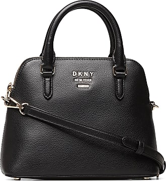 DKNY Whitney-Md Dome Satc Bags Top Handle Bags Svart DKNY Bags