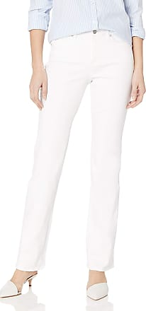 NYDJ Womens Marilyn Straight Leg Denim Jeans, Optic White, 12 33