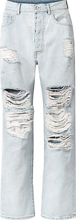 Unravel Distressed Boyfriend Jeans - Light denim