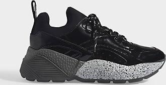 Stella McCartney Sneakers Eclypse mit Schnürsenkeln aus schwarzem eco-Leder