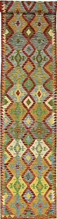 Nain Trading 482x83 Oriental Kilim Afghan Rug Runner Brown/Yellow (Wool, Afghanistan, Handwoven)