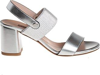 Albano sandalo con inserto elasticizzato, 35 / argento