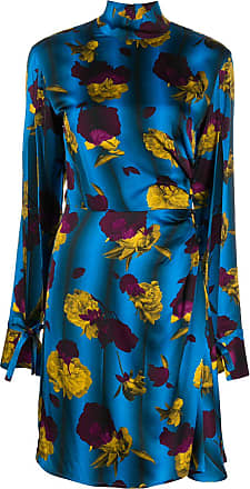 Opening Ceremony floral print turtle neck dress - Blue