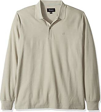70555672b26 Brixton Mens Shoreditch Standard Fit Long Sleeve Polo Knit Shirt
