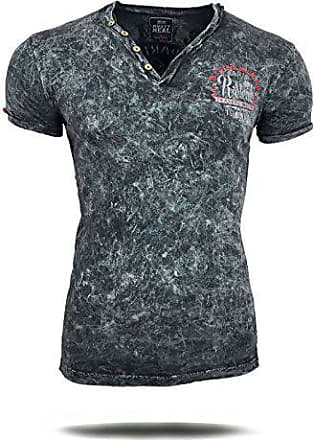 Avroni T Shirt Herren Men Motiv Style Individuall Türkis Navy Grau Kurzarm
