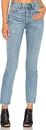 GRLFRND Karolina High-Rise Skinny Jean in Blue