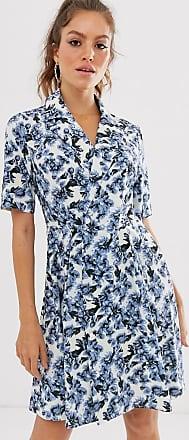 Unique21 Unique21 floral short sleeve wrap dress-Multi