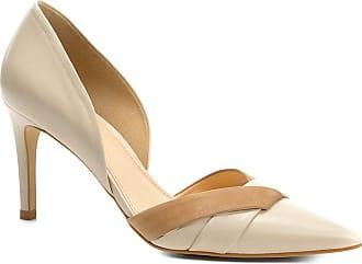 99e236394f Shoestock Scarpin Couro Shoestock Salto Alto Bicolor - Feminino