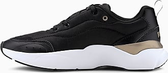 Puma Lia Womens Trainers, Black, size 3.5, Shoes