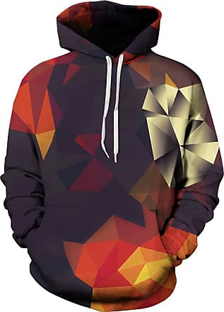EUDOLAH 3D Prints Pullover Jumpers Breathable Hoodies Patterned Sweatshirts for Mens Size S M L XL 2XL 3XL (2XL/3XL, Triangle)