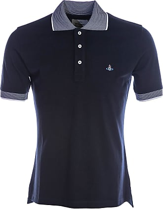 Vivienne Westwood Fine Stripe Collar Polo Shirt in Navy