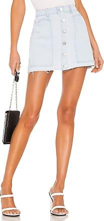 Kendall + Kylie Fashion Denim Mini Skirt in Powder Blue Wash