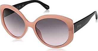 Jessica Simpson Womens J5730 Rsox Non-Polarized Iridium Round Sunglasses, Rose Gold Black, 70 mm
