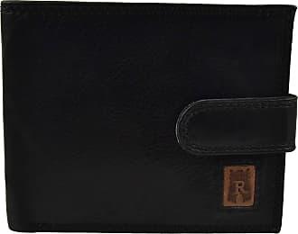 Soft Black Full Grain Leather Billfold Wallet with Coin Purse Rowallan