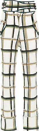 Framed Calça Pantalona Checklist - Verde
