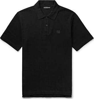 Acne Studios Elton Cotton-piqué Polo Shirt - Black
