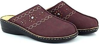 59677a254b84a8 Dr Keller Pflaume Cathleen Damen Weite Passform auf Slip Still Mule Sandale  Schuhe