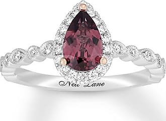Neil Lane Garnet Engagement Ring 1/4 ct tw Diamonds 14K Gold