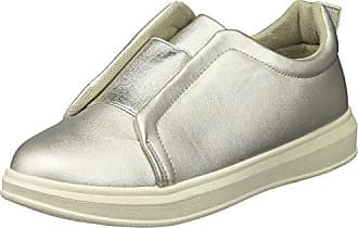 Yoki Womens Tia-77 Sneaker, Silver, 7.5 M US