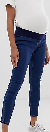795afe6de6ca5 Asos Maternity ASOS DESIGN Maternity Rivington high waisted jeggings in  flat mid blue wash with under