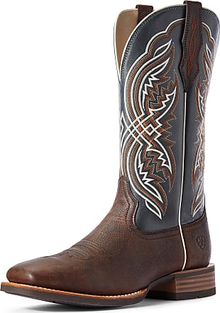Ariat Mens Double Kicker Western Boots in Dark Whiskey Leather, D Medium Width, Size 10.5, by Ariat
