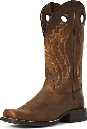 Ariat Mens Sport Picket Line Western Boots in Sorrel Crunch Leather, D Medium Width, Size 10.5, by Ariat