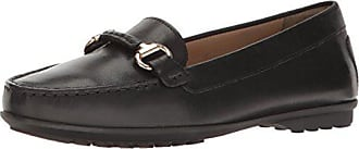 Geox Womens W Elidia 4 Moccasin, Black, 37 EU/7 M US